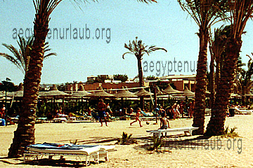 Beach am Giftun Azur Resort in Hurghada , Rotes Meer, Ägypten
