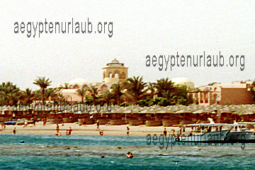 Beach Resort in Hurghada am Roten Meer in Ägypten
